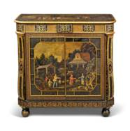 A REGENCY CHINOISERIE JAPANNED